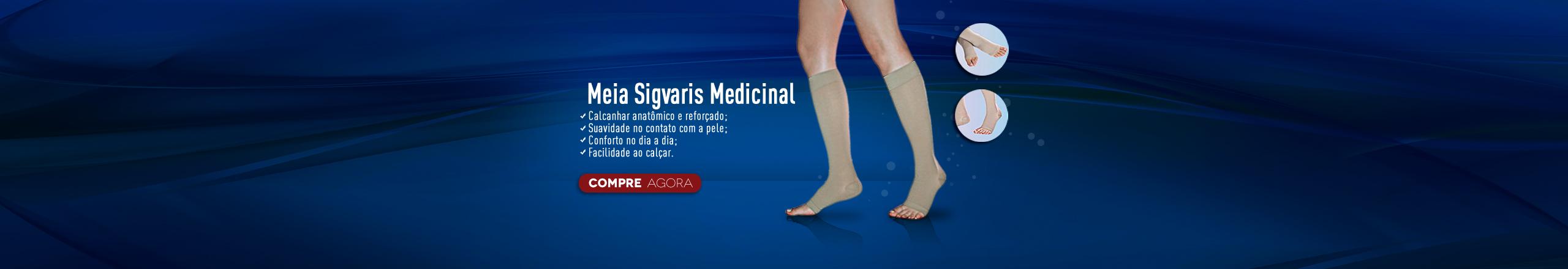 Meia Sigvaris Panturrilha Medicinal Basic Sem Ponteira 3/4 Unissex 20-30